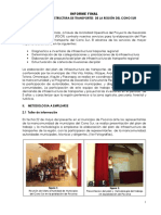 Plan Infraestructura Vial Informe Final