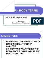 The Human Body Terms