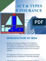 Irda Act & Types of Insurance