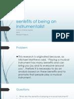 Benefits of Being an Instrumentalist
