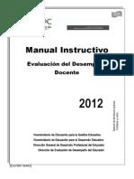 Manual Instructivo - Evaluación de Desempeño Docente 2012.doc