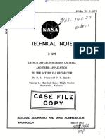 Design Criteria for Launchers and Deflectors
