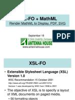 XSL-FO+MathML