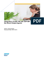 Integration of SAP TM With SAP EM – Details on the Direct Output Agents