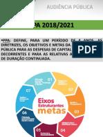 Apresentacao PPA 2018-2021