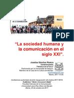 """""""La sociedad humana y la comunicación en el siglo XXI""""."""