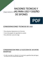 Consideraciones Tecnicas y Normativas Para Uso y Diseño