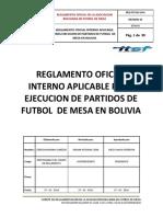 Reglamento Oficial de La Asociacion Boliviana de Futbol de Mesa