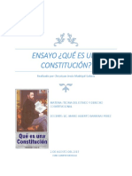 Ensayo Que Es Una Constitución