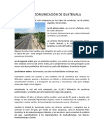 Vías de Comunicación de Guatemala