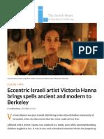 Eccentric Israeli artist Victoria Hanna brings spells ancient and modern to Berkeley