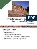 07.Deformasi, Jenis Struktur, Pembentukan Pegunungan