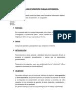 Estructura de Informe-trabajo Experimental