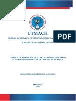 Cinetica de Bioadsorcion de Plomo y Arsenico en Carbon Activado Proveniente de La Cascarilla de Arroz