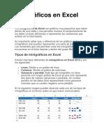 Minigráficos en Excel