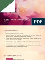 Resumo de Imunologia