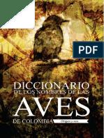 Diccionario de Los Nombres de Las Aves d
