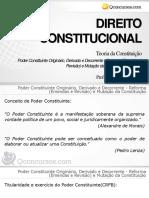 Poder Constituinte Originário, Derivado e Decorrente - Reforma (Emendas e Revisão) e Mutação Da Constituição - Parte 1