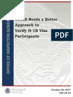 Homeland OIG Visa Report