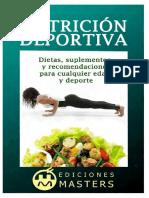 Nutrición Deportiva Dietas, Suplementos y Recomendaciones Para Cualquier Edad y Deporte - Adolfo Pérez Agustí