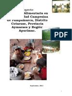 Resumen Ejecutivo  PROYECTO SEGURIDAD ALIMENTARIA - Pampamarca[1].doc
