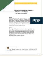 artigo LICENCIATURA E BACHARELADO EM EDUCAÇÃO FISICA_ DIFERENÇAS E SEMELHANCAS.pdf