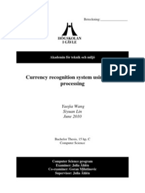 Currency Recognition System Using Image Processing | Rgb