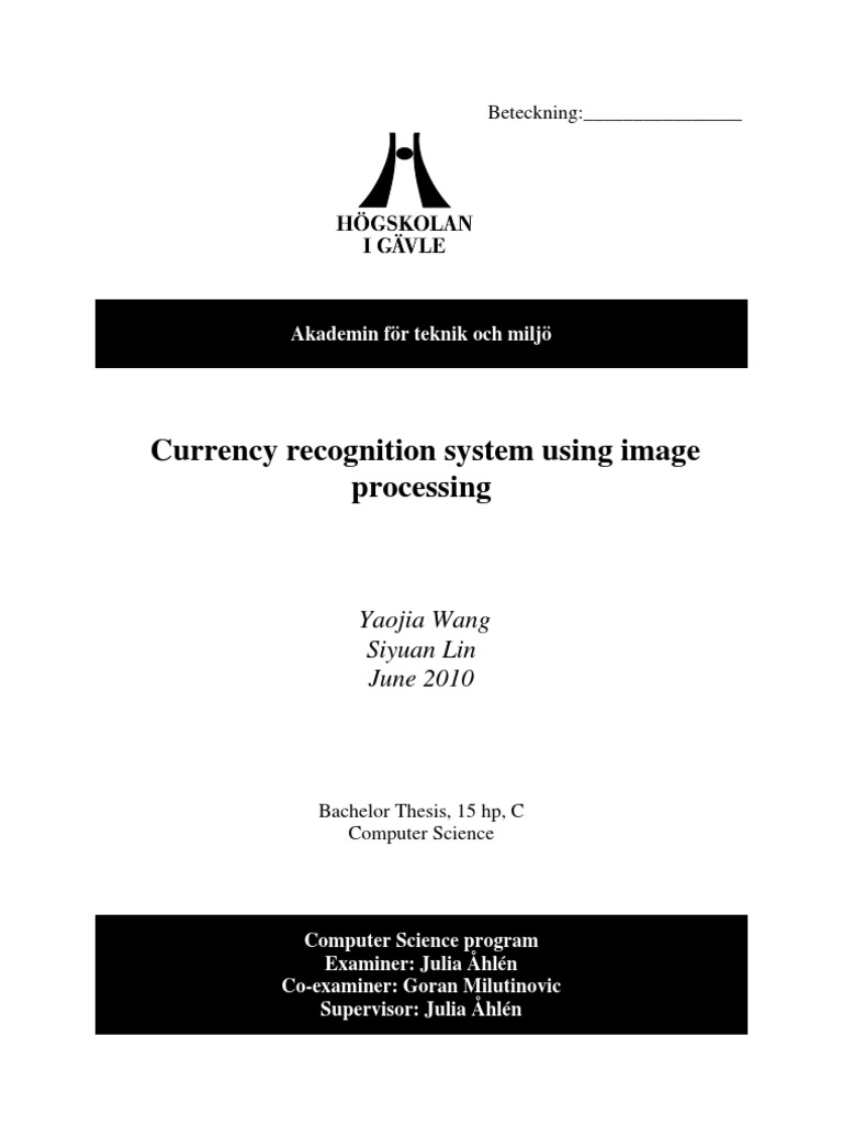 Currency Recognition System Using Image Processing | Rgb Color Model