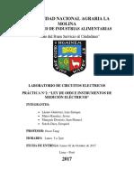 Informe 2 Circuitos Eléctricos