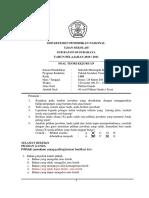 Soal UJian Sekolah Teknik Instalasi Tenaga LIstrik 2011 Paket A