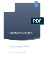Proyecto Identidad Personal