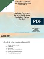 Distribusi Pemegang Saham (Dividen Dan Pembelian Saham Kembali) - Kelompok 4 - FIX
