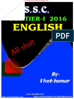 Ssc Cgltier i English 2016 All Shift