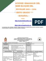 Planeaciones de Español Bloque 1 Sexto