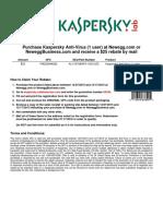 Kaspersky Mail in Rebate