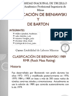 Clasificación de de Bieniawsky - Leon