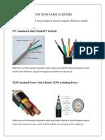 Jenis Jenis Kabel Elektrik