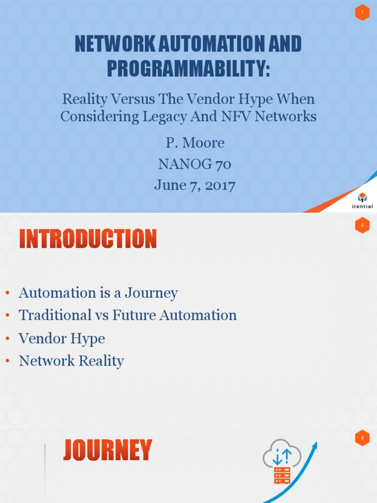 1 Moore Network Automation and Programmability | Computer