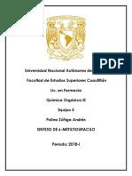 Reporte Pirimidinas Org. Lll