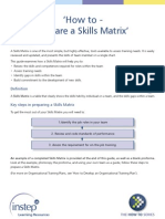 How to Create Skill Matrix