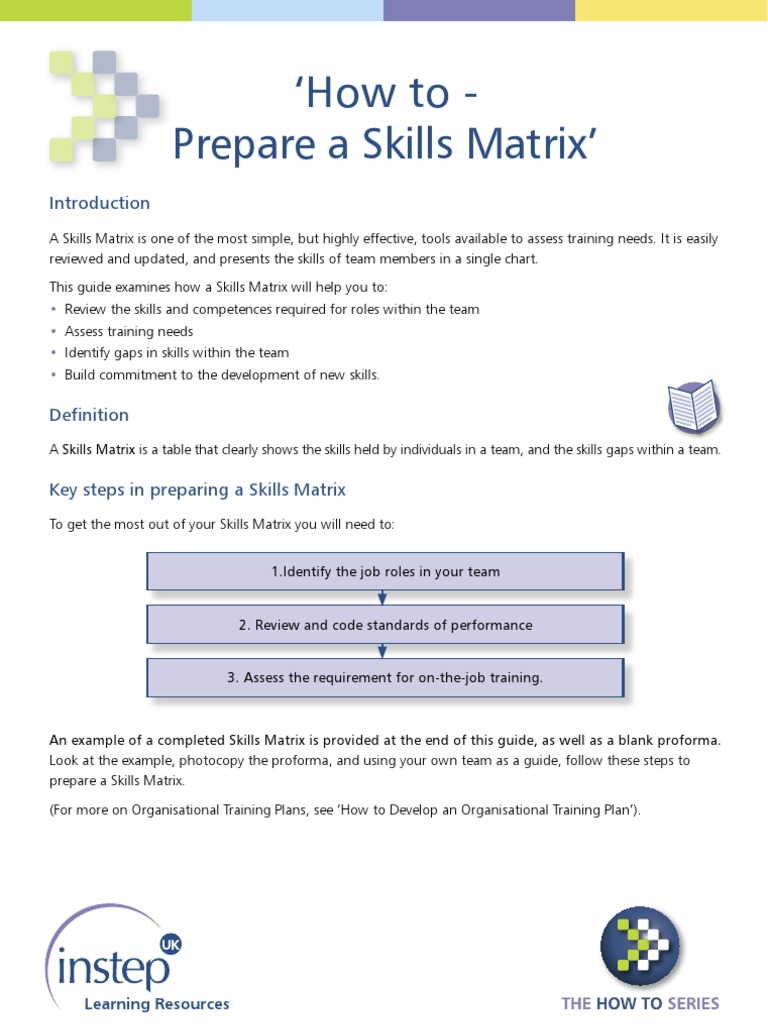 How to Create Skill Matrix | Matrix (Mathematics) | Behavior