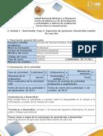 Guia de Actividades y Rubrica de Evaluación-Paso-2-Expresion de Opiniones Desarrollar Estudio de Caso Dos