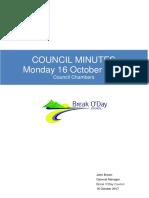 Council Minutes 16 October 2017 - Public
