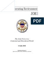 US Joint Chiefs of Staff - Joint Operating Environment 2035 - The Joint Force in a Contested and Disordered World - 14 July 2016