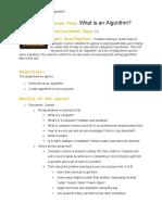 PDF Introduction to Algorithms Lesson Plan