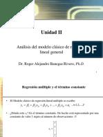 Unidad II Análisis Del Modelo de Regresión Lineal Generalppt