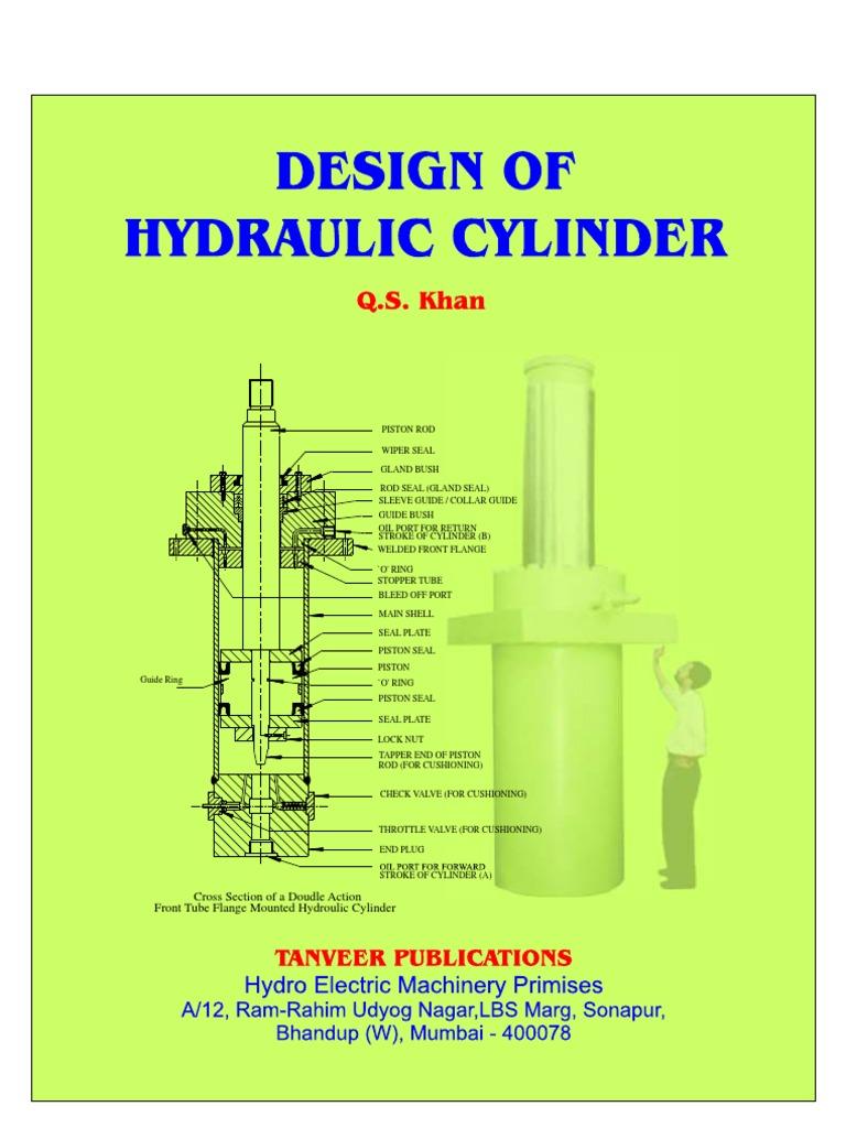 Hydraulic Cylinder Design : Design of hydraulic cylinder