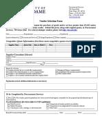 Vendors Election Form