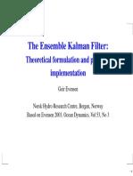 15977 Ensemble Kalman Filter Theoretical Formulation and Practical Implementation
