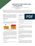 Reporte 5 - Isotermas de Adsorción de Acido Acetico - Fisicoquímica 3